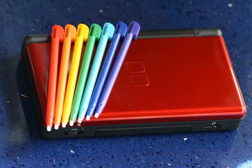 Nintendo DS Brain Age 2 Rainbow Styli