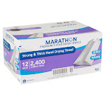 Marathon Paper Towel, C-Fold, 2-Ply, 200-Count, 12-Pack