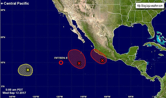 A broad area of low pressure located several...
