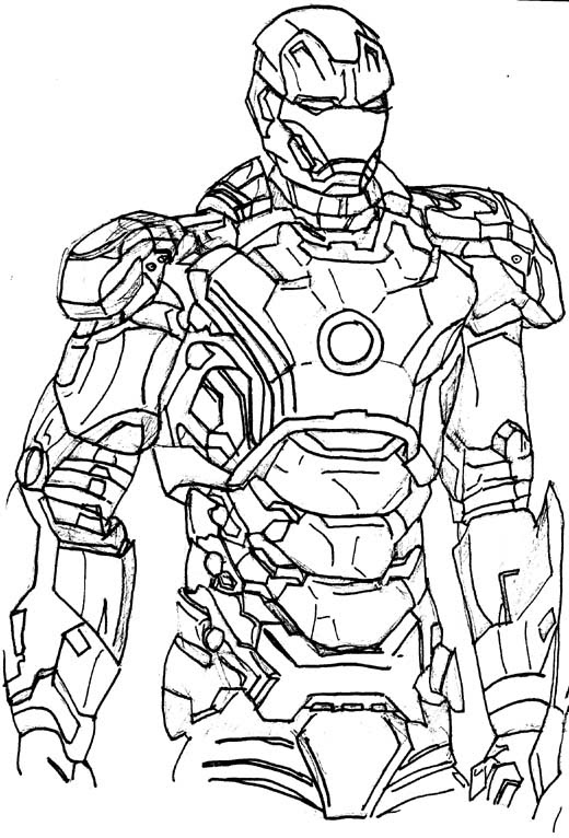 Iron Man 3 Drawing at GetDrawings | Free download