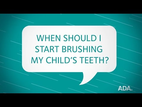 Ask the Dentist by the ADA: 'When Should I Start Brushing My Child's Teeth?'
