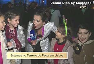 Joana Dias sensual na passagem de ano na Rtp