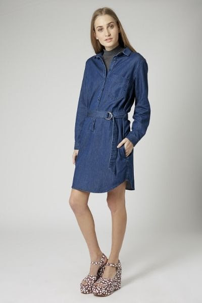 Topshop Moto D-Ring Shirtdress