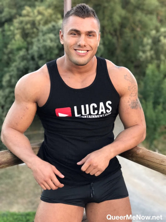 Brock Magnus: Hot New Bodybuilder Gay Porn Star from Czech Republic Shooting His First Scene with Lucas Ent.