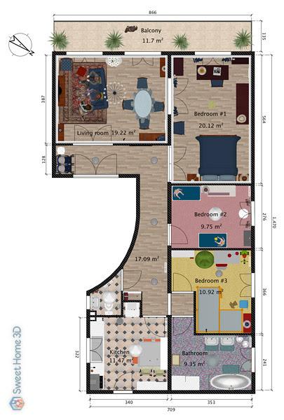 Modul membuat rumah 3d dengan sweet home 3d author. Cara Membuat Atap Di Sweet Home 3d Membuat Itu