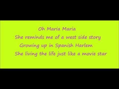 Maria West Side Story Lyrics Santana