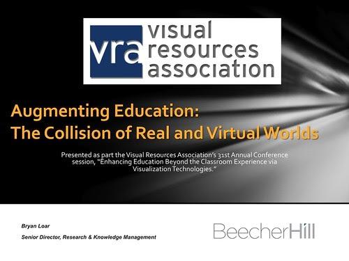 brave new world  augmenting education presentation at vra 2013
