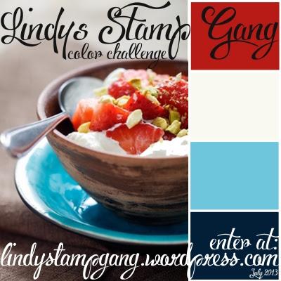 Color Challenge July 2013 lindys stamp gang glimmer shimmer