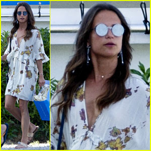 Alicia Vikander Gets Some Shopping In While On Vacation!