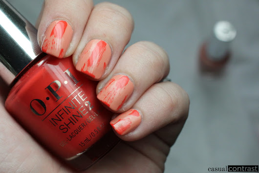 Dry Brush Nail Art with OPI California Dreaming • Casual Contrast