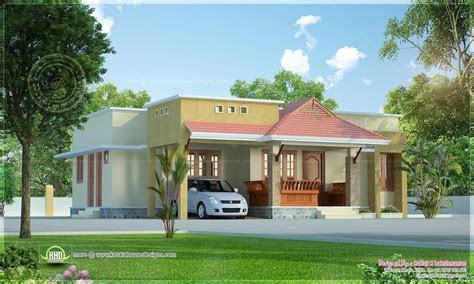 small kerala style beautiful house rendering kerala home