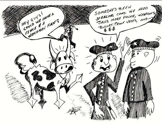 Investigation doesn't prevent the cows from being stolen.  Brian Pinkowski