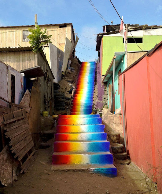 The Crystal Ship | itscolossal: A Color Spectrum Stairwell in Lima...