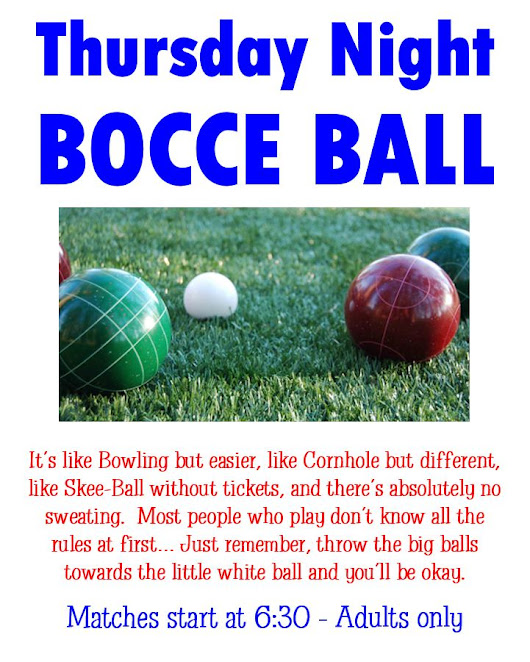 Thursday Night Bocce Ball 2018 – HP Elks Lodge #1155