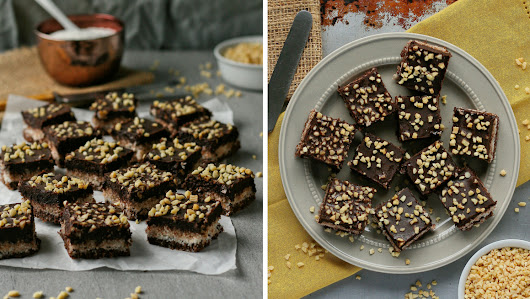 Chocolate coconut squares (refined sugar free)