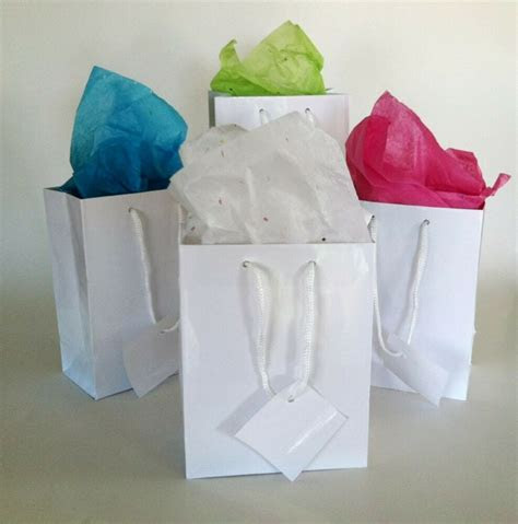 Wholesale lot 100 Small Glossy White Gift Bags Wedding