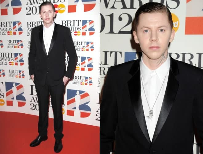 Professor Green Brit Awards 2012 Red Carpet