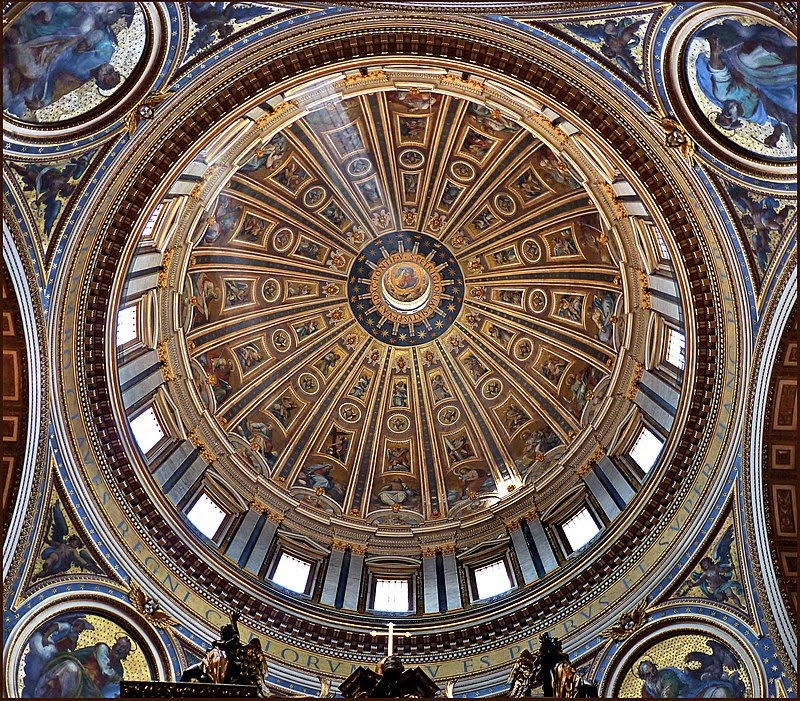 Dome of Saint Peter's Basilica (interior) - Vatican City - 13 May 2011.jpg
