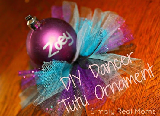 DIY Dancer Tutu Ornament | Simply Real Moms