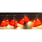 Summer Nights Incandescent Red Solo Cup Light Set Clear 7-1/2 ft.