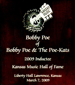 Kansas Music Hall of Fame Award