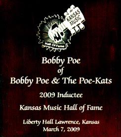 Kansas Music Hall of Fame Award