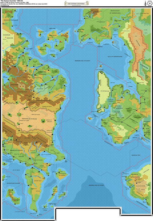 TM2 The Eastern Countries, 8 miles per hex | Atlas of Mystara
