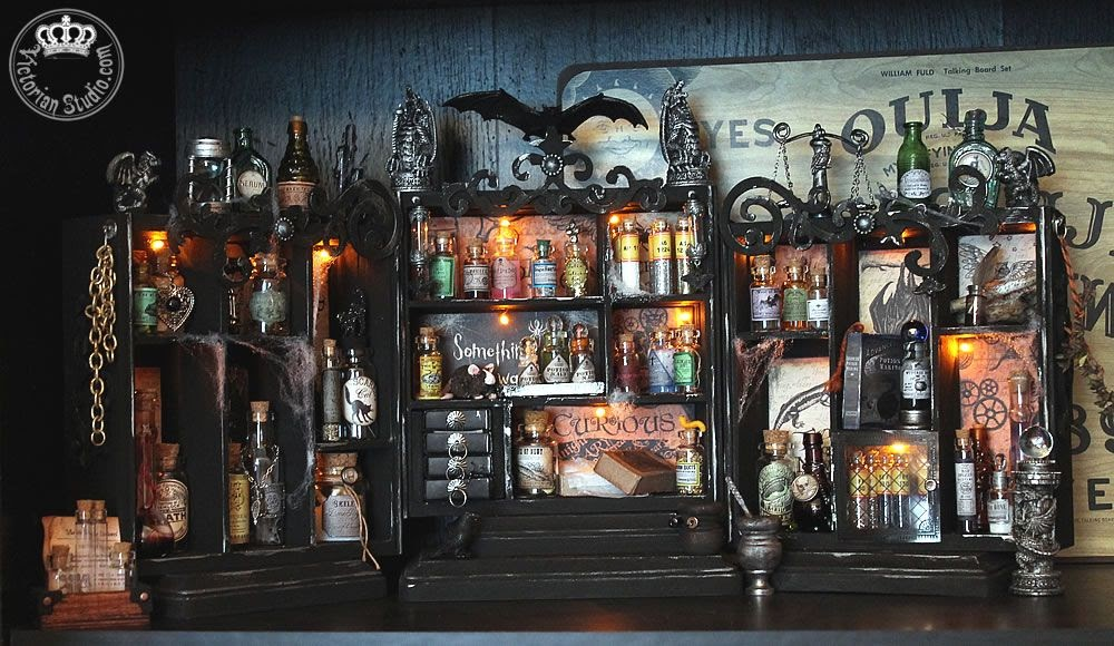 Artfully Musing Halloween Apothecary By Maureen At Her