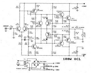 Scematic Diagram Panel: Jrc 2sc5200 Amp Circuit