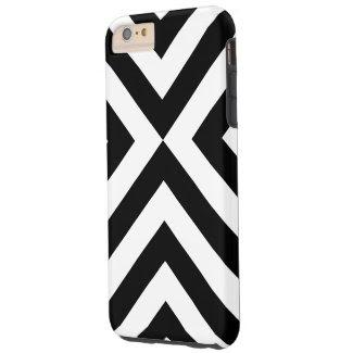 Black and White Chevrons iPhone 6 Plus Tough Case Tough iPhone 6 Plus Case