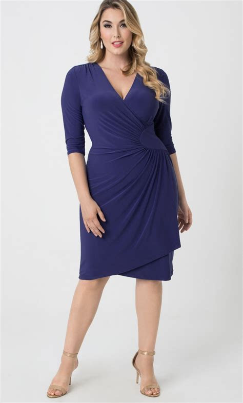Plus Size Wrap Dress   Ciara Cinch Dress by Kiyonna Plus Sizes