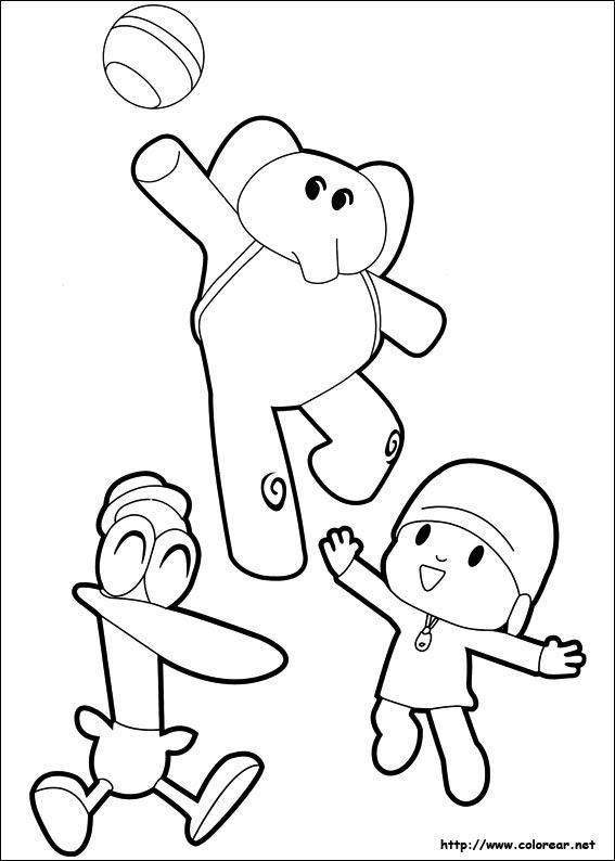 Dibujos De Pocoyó Para Colorear En Colorearnet