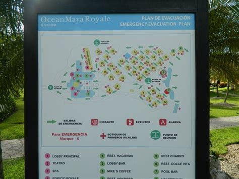 Map of the grounds. Easy to get around   Picture of Ocean