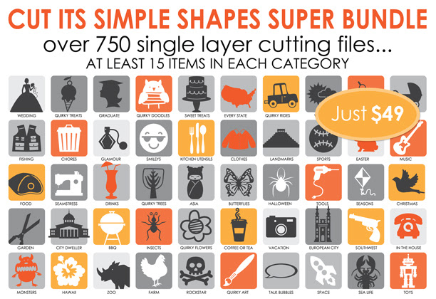 Cut Its Simple Shapes Super Bundle