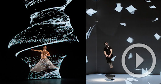 The Movement of Air: A New Dance Performance Incorporating Interactive Digital Projection from Adrien M & Claire B