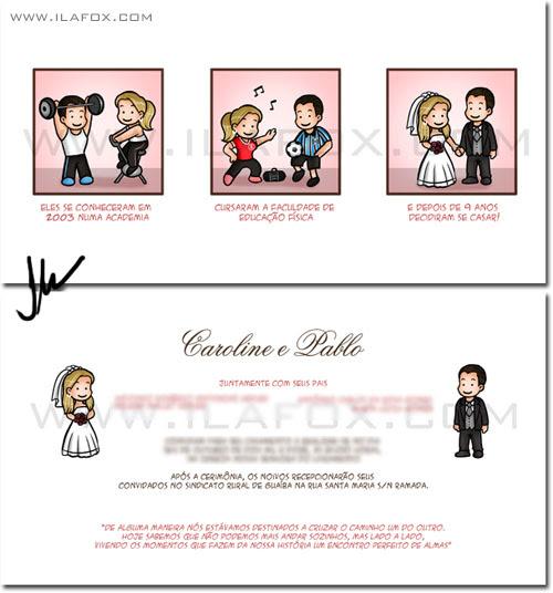 Caricatura casal noivos, caricatura noivinhos, educação física, caricatura sob encomenda by ila fox
