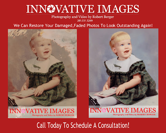 Photograph Restoration due to flood and water damage in Houston!