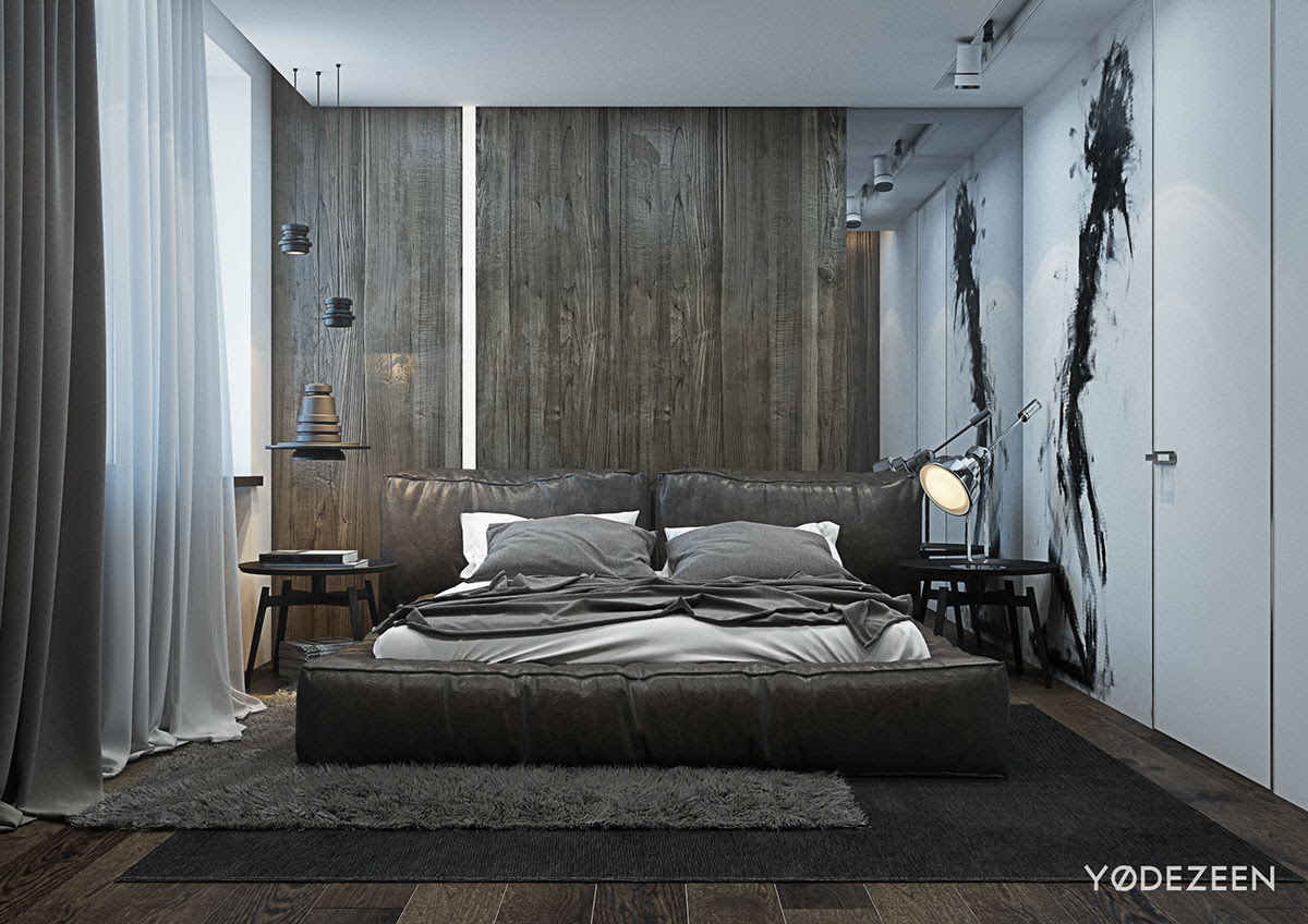 A Dark and Calming Bachelor Bad with Natural Wood and Concrete - 1000+ Ideas About Luxury Master Bedroom On Pinterest Master Bedrooms,Bedrooms And Master