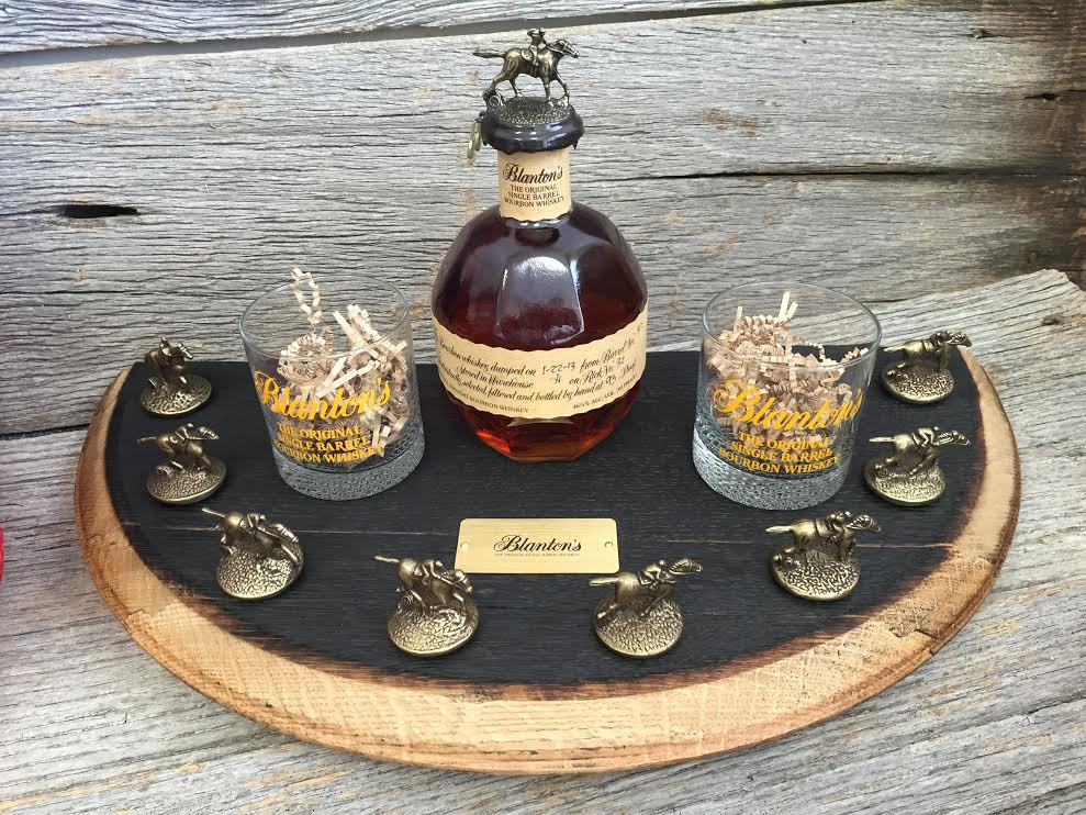 Blantons Bourbon Half Barrel Head Stopper Display Blantons
