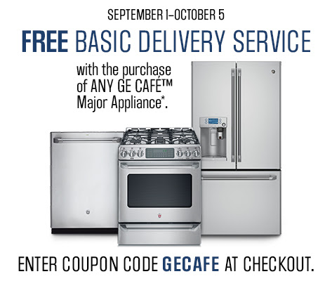 GE Café Free Basic Delivery@ Sears Canada