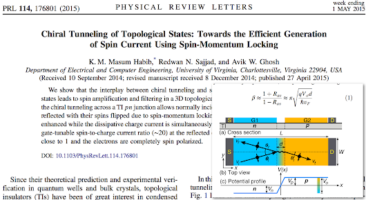 Chiral Tunneling of Topological States: Towards the Efficient Generation of Spin Current Using Spin-Momentum Locking