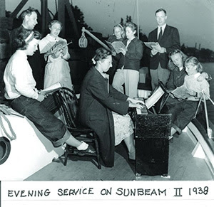 Church service on the Sunbeam II