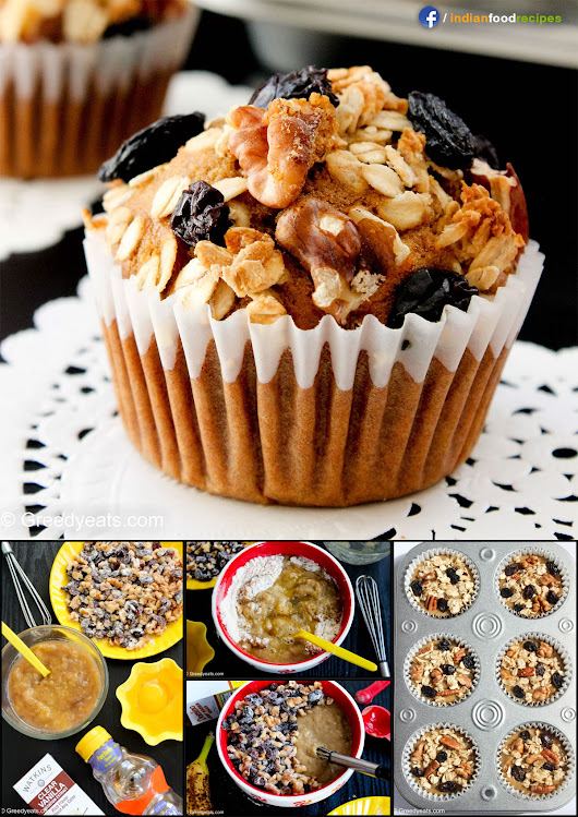 Healthy Banana Muffins recipe step by step pictures | Indian Food Recipes