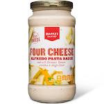 Four Cheese Alfredo Pasta Sauce 15Oz - Market Pantry , Adult Unisex