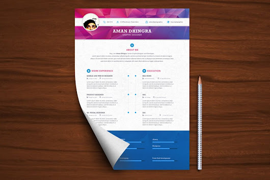 Professional Resume CV Template Free PSD | PSD Graphics