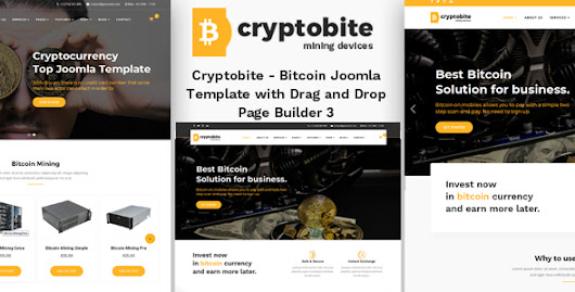 Best of joomla templates google cryptobite bitcoin joomla theme with drag and drop builder accmission Choice Image