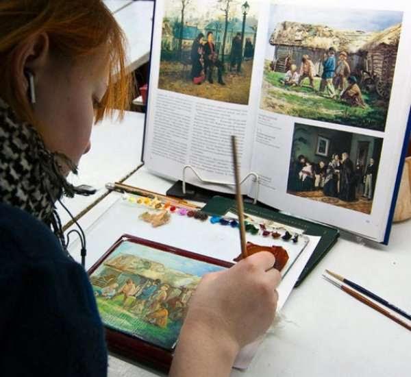 Лаковые миниатюры из села Федоскино