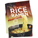 Lotus Foods Organic Rice Ramen Whole Grain Noodles 4 Pack Millet & Brown 10 oz.