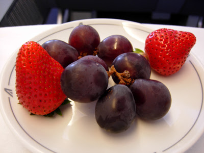 grapes and strawberries
