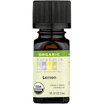 Aura Cacia Essential Oil, 100% Pure, Organic, Lemon - 0.25 fl oz
